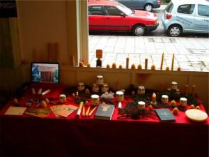 Tischchen bei Adventsbazar