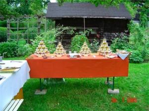 Das alte Bienenhaus im heutigen Garten