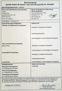 ÖkoP Bescheinigung 2012